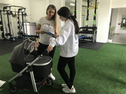 postnatal fitness women in female gym seeking advice