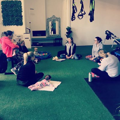 pelvic floor workshop held in ladies gym with mums and bubs
