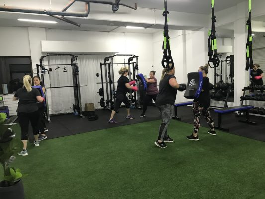 postartum exercises with fitness women in ladies gym near me