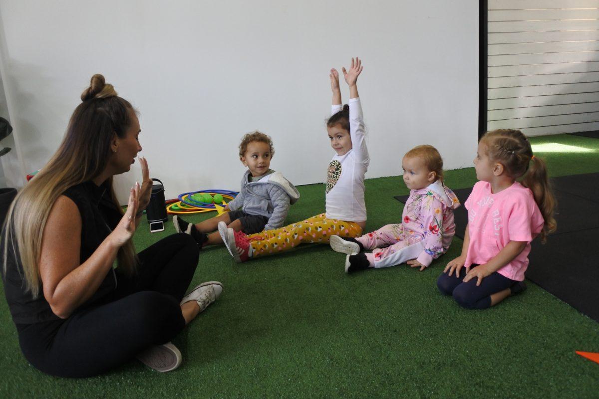 children exercise sport