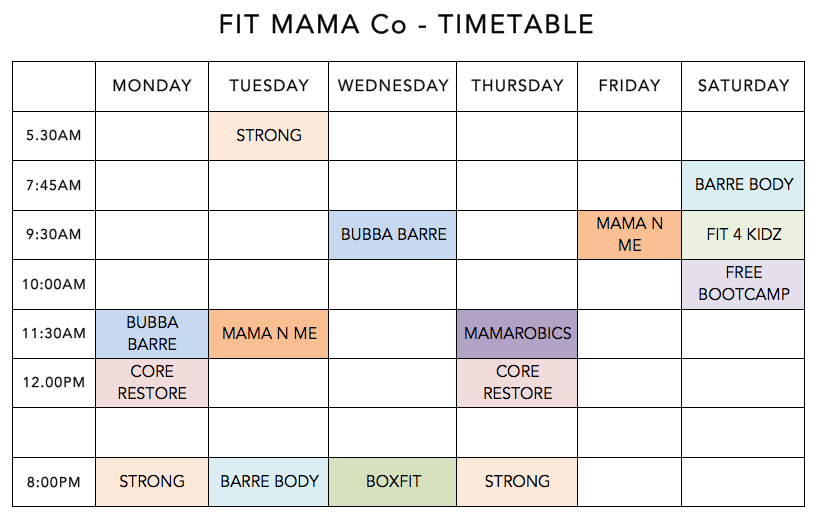 fitness women gym time table